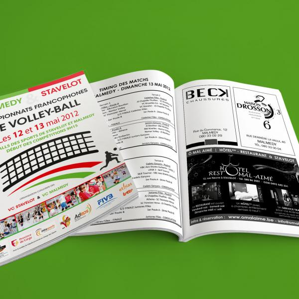 Brochure - Championnats de Wallonie de Volley